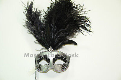 etian Mardi Gras Costume Feather Mask Dress up birthday prom (Mardi Gras Masquerade Dresses)