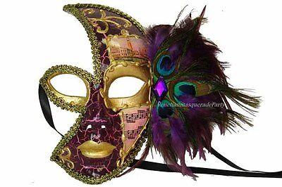 Gold Turquoise Peacock Costume Studio Photo shoot Masquerade Party Ball eye Mask - Masquerade Peacock Masks