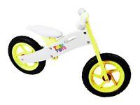 Kids Wooden Balance Running Bike First training cycle Boys Girls No Pedal yellow