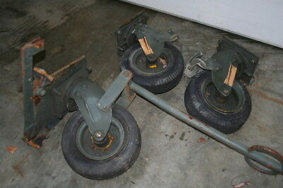 Caster 4.80-8 Pneumatic Tire Super Heavy Duty Cast Aluminum Aerol Lot Of 3