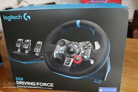 Logitech G29 Steering Wheel Warranty Receipt included PS4 PS3 PC Compatible