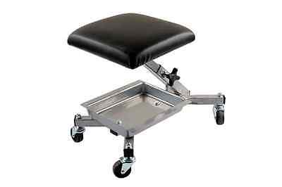MECHANIC ROLLING ROLLER SEAT WITH STORAGE TRAY ADJUSTABLE HEIGHT 370mm 120kgs
