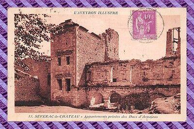 Cpa 12 - severac-le-chateau - appartements privées des ducs d'arpajous
