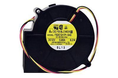 Japan Servo 97mm x 33mm Blower Fan 12V 27CFM / 3700RPM Ball Bearing 3-Wire (97mm Fans)