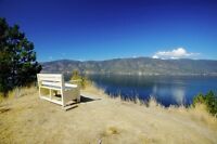 Large vacation rental w private beach & dock, Okanagan BC = HOT