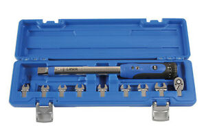 LASER TOOLS 6167 TORQUE WRENCH 1/4 DRIVE TOOL KIT CROWFOOT SPANNER WRENCH KIT