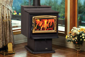 Pacific Energy Woodstove and hearth pad