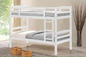 New white or pine bunks beds free delivery