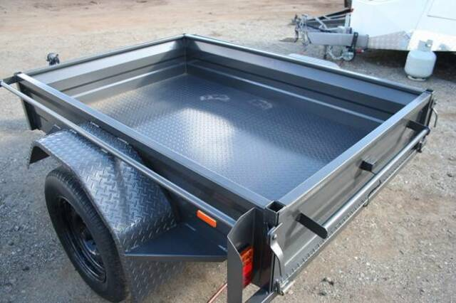 6x4 Commercial Duty Box Trailer With Full Rhs Tube Chassis