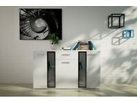 NEW Modern SALSA Chest of drawers with Glass Door High Quality