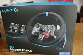 NEW Logitech G29 Steering Wheel Warranty Receipt included PS4 PS3 PC Compatible