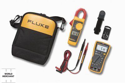 Digital600-voltmultimeter Fluke 117 Electricians Rms Clamp Automotive Hvac Set