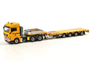WSI COLLECTIBLES MAN TGX XLX 6X4 SEMI LOW LOADER LEIBHERR 04-1060