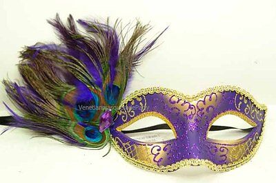 Sexy Masquerade Dance Ball Peacock Costume Prom Mardi Gras Party feather Mask](Mardi Gras Peacock Costume)
