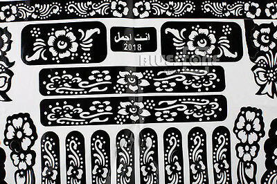 Henna Mehndi Stickers : Henna mehndi paisley doodle vector design sticker wall decals