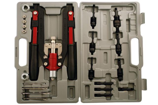 LASER Long Arm Rivet Gun For Threaded/Nut/Bolt Stainless Steel Riveter Set,3736
