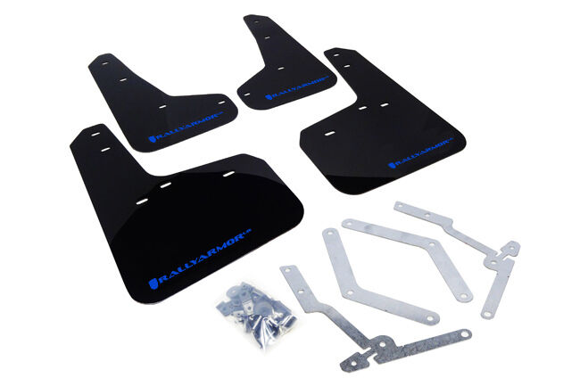 Rally Armor MF29-UR-BLK//SIL Black Silver Mud Flap with Logo 13+ Ford Fiesta ST