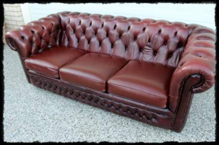 Genuine leather Chesterfield Lounge