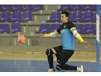 Futsal (indoor football) 5 a side goalkeeper wanted