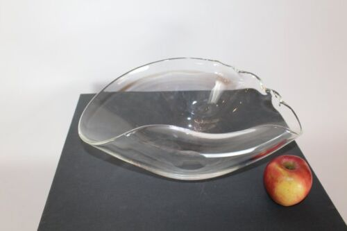 Steuben  Bowl Large Ruffled Seashell Bowl By Ted Muehling Vessel Crystal Signed