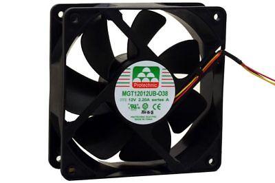Protechnic 120mm*38mm Case Cooling Fan Double Ball Bearing 3PIN 150CFM