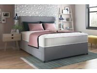 💖💖BRAND NEW💖💖 DOUBLE DIVAN BED BASE WITH DIFFERENT TYPES OF MATTRESSES