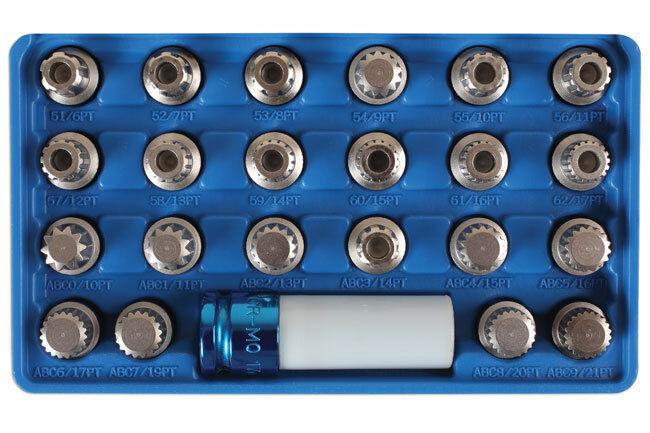Laser Tools 6275 Locking Wheel Nut Key Socket Set Tool Set