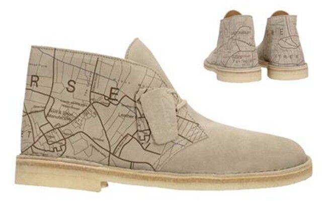 Clarks Originals Men ** Desert Boots ** Sand Interest Map ** UK 7,8,9,10,11,12 G