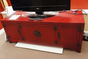 PIer 1 Oriental Style Red TV Stand and/or Hutch