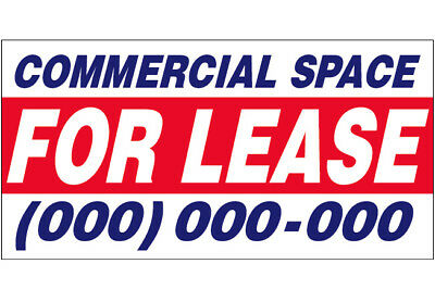 Commercial Space For Lease Vinyl Banner Custom Sign 2x4 Ft - Add Your Phone