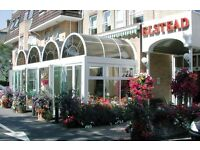 Full-time Head Waiter required for 100-cover Hotel Restaurant.