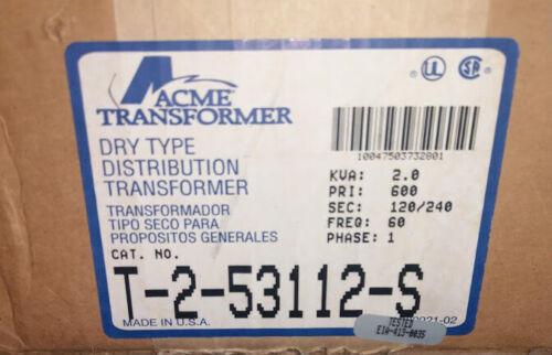 New in Box (NIB) Acme T-2-53112-S Dry Type Distribution Transformer 2.0 kVA 1PH