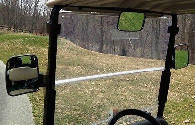 3PC Golf Cart Side Rear View Mirror Set,1 Central + 2 Wing Mirrors,EZGO Club Car