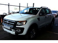 White Ford Ranger 3.2TDCi 4x4 Wildtrak Double Cab FROM £83 PER WEEK!