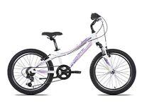 "(2645) 20"" Lightweight Aluminium UNIBIKE MIMI GIRLS MOUNTAIN BIKE BICYCLE Age: 6-8, 117-132 cm"
