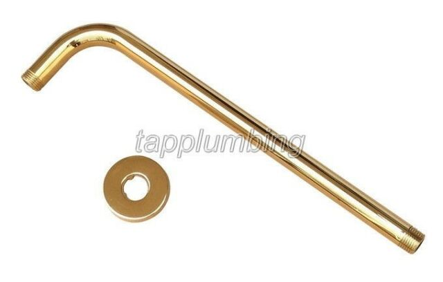 "Gold Color Brass Shower Head Pipe - 12.6"" Long wall cover - Shower Arm tsh102"