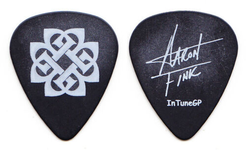 Breaking Benjamin Aaron Fink Signature Black Guitar Pick #2 - 2008 Tour