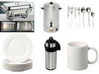 Catering equipment and tableware for HIRE in COVENTRY. Up to 10% discount available on bulky hires