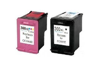 2 CARTUCHOS COMPATIBLES 300XL HP NEGRO Y TRICOLOR ...