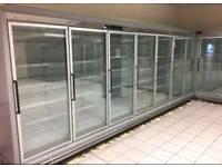 14 multi-shelf remote display freezer