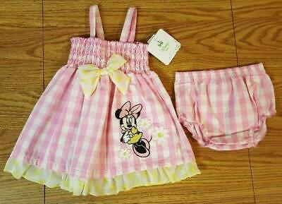 Baby Girls 6/9 Months Minnie Mouse Dress Outfit Set Spring Summer NWT