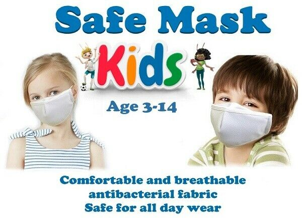 (2 PACK) KIDS SIZE  REUSABLE (WASHABLE) FABRIC FACE MASK  FAST USA-SHIPPING Home & Garden