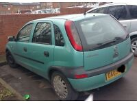 Vauxhall Corsa 1.2 N/S Wing In Green Breaking For Parts