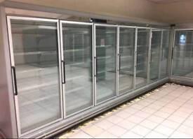 7 multi-shelf remote display freezer