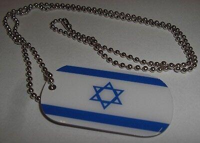 DOG TAG Israel Erkennungsmarke Hundemarke & Kette Fahne Flagge 30x50 Neuware