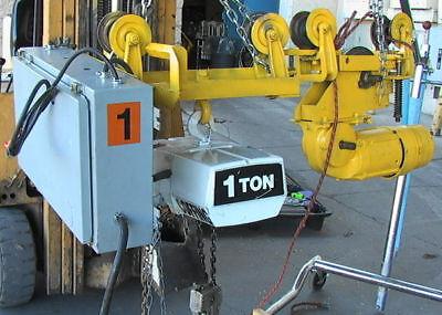 1-t Coffing Ec20085 7 Electric Chain Hoistmtr Troley