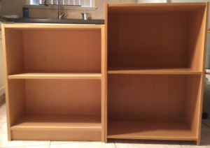 Two Small Bookcases (maple)