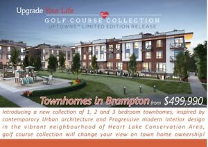 Town Homes In Brampton In Heart Lake Area Starting From $499,990