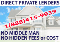 DIRECT PRIVATE LENDERS FOR PRIVATE MORTGAGE IN ONTARIO