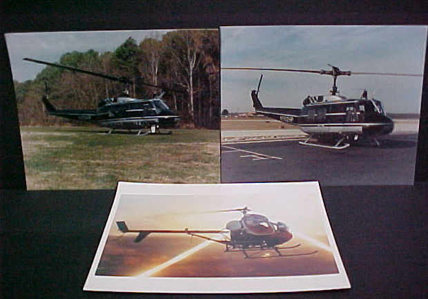 POLICE HELICOPTER PHOTOS COLOR 8X10 N.C. KANSAS CITY MO